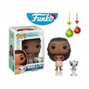 Moana y pua Funko pop princesa disney pelicula un mar de aventuras INCLUYE BOLSA POP PARA REGALO