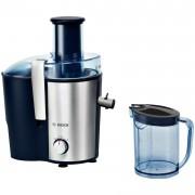 Storcator de fructe si legume Bosch MES3500, 700 W, Disc razuire ceramic, 2 viteze, 1.5 l, Argintiu/Albastru