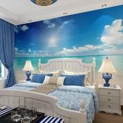 LWCX Ocean Beach Paisaje Fotografía Impresión 3D Papel pintado para pared Sala de estar Oficina Decoración de pared, 200 x 140.