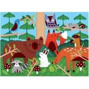 Mudpuppy Fuzzy Puzzle/Woodland