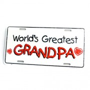 San Diego Gifts World's Greatest Granpa Metal License Plates【ゴルフ その他のアクセサリー>ホーム/オフィス】