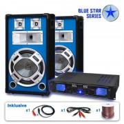 Electronic-Star Serie Blue Star Basskick Set sonido profesional 1600W (BS-Basskick)
