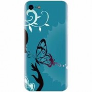 Husa silicon pentru Apple Iphone 5 / 5S / SE Blue Butterfly