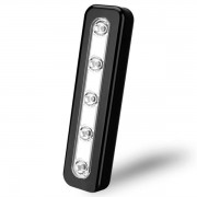 Svart 5 LEDs spotlight med touch