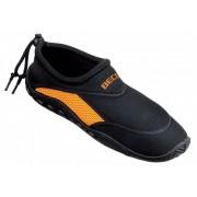 Beco Waterschoenen voor dames zwart met oranje