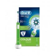 Procter & Gamble Srl Oral-B Pro 600 Crossaction Colour Edition Spazzolino Elettrico Ricaricabile Verde
