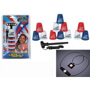 Speed Stacks Mini Play Set Of 12 Ultra Portable Cups Minis With Free Bonus: Active Energy Power Balance Necklace $49 Value