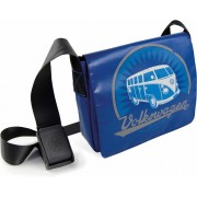 VW T1 Bus Tablet-PC Tas - Vintage Logo/blauw