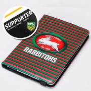 NRL Licensed South Sydney Rabbitohs PU Leather Wallet Case for iPad Air 2