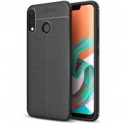 Para ASUS Zenfone 5Z Zs620kl Litchi Texture Soft TPU Protective Back Cover Case (Black)