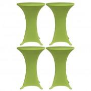 vidaXL Husă elastică pentru masă, 4 buc., verde, 70 cm