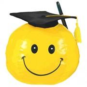 """Grad Smiley Plush Graduation Party Autograph Keepsake Favour, Vinyl, 8""""."""