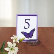 Numar de masa nunta fluture N016c