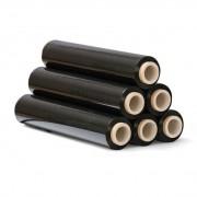 B2B Partner Folia stretch czarna, 23 mic, 500 mm x 300 m, 6 szt.
