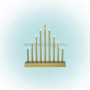 HOME KAD 09/GD LED-es gyertyapiramis időzítővel, arany, 9 LED, 6V ( KAD 09/GD )