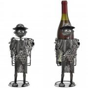 Поставка за вино [en.casa]®, Винар, 20,5 x 12,5 x 29 cm