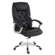 Sediadaufficio Poltrona ufficio DIONE, elegante e resistente, imbottitura spessa con rivestimento in morbida pelle, in nero