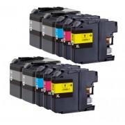 (10pack) BROTHER LC525 LC529 multipack - kompatibilné náplne do tlačiarne Brother