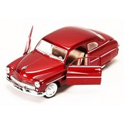 Motor Max 1949 Mercury Eight Coupe, Red - Motormax 73225 1/24 Scale Diecast Model Toy Car