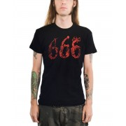tricou stil gotic și punk bărbați - 666 - TOO FAST - MTS-T-666