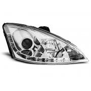 Přední světla, lampy Ford Focus 98-04 Day light chromová H1