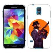 Husa Samsung Galaxy S5 Mini G800F Silicon Gel Tpu Model Mafia Monkey
