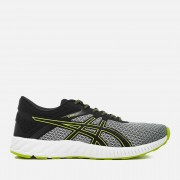 Asics Men's Running FuzeX Lyte 2 Trainers - Mid Grey/Black/Energy Green - UK 7 - Grey