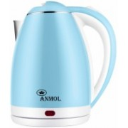 Anmol 1.8L ™ Electric Kettle, 1500W Borosilicate Glass Tea Kettle, Fast Heating LED Cordless Kettle, Auto Shut-Off Boil-Dry Protection Stainless Steel Inner Lip, Tea Pot, BPA-Free, Water Boile Electric Kettle(1.8 L, Blue, White)