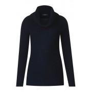 cecil Basic trui met kraag - deep blue