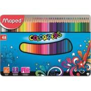 Creioane colorate,48b/cut.met,Maped