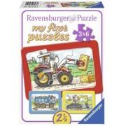 Puzzle Utilaje, 3X6 Piese Ravensburger