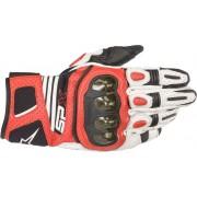 Alpinestars SP X Air Carbon V2 Guantes de motocicleta Negro Blanco Rojo 3XL