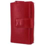 Közepes női piros bőr pénztárca LA SCALA