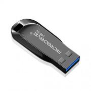 Wangl Almacenamiento Externo Unidades Flash USB Disco Giratorio en U de Metal de Alta Velocidad y 32GB con USB 3.0 (Negro) Unidades Flash USB (Color : Black)