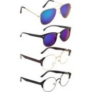 NuVew Aviator, Wayfarer, Oval Sunglasses(Blue, Clear, Green)