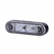 Lampa gabarit auto KM100 12/24V ovala Alba cu led, 80x23mm , 1 buc.