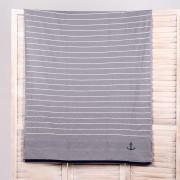 Плажна кърпа Stripe сива