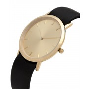 Analog Watch Classic Gold Plated Dial & Black Strap Watch GB-CG