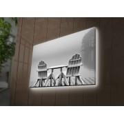 Tablou pe panza iluminat Ledda, 254LED3292, 45 x 70 cm, panza