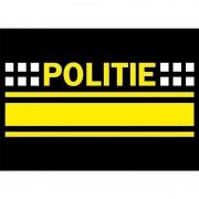Shoppartners 10x Politie logo sticker 7.5 x 10 cm