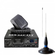 Kit Statie Radio CB Storm Discovery 3, High-Low Version 2018, ASQ, + Antena Megawat ML145 Black, 147cm