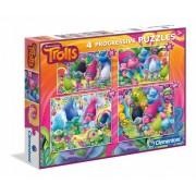 Puzzle Clementoni - Trolls, 20/60/100/180 piese (60760)
