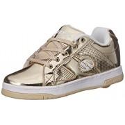 Heelys Split Chrome Skate Shoe (Toddler/Little Kid/Big Kid), Gold, 4 M US Big Kid