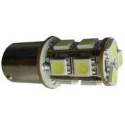 Autós led BA15S index, tolató, helyzetjelző világítás, 13 led, 95 Lumen, 2,5W, piros. Life Light Led 2 év garancia!