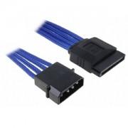 Cablu adaptor BitFenix Alchemy 4-pini Molex la 1x SATA, 45cm, blue/black, BFA-MSC-MSA45BK-RP