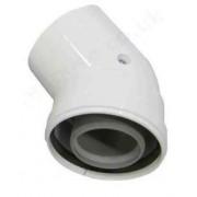 Cot coaxial 45 grade 80/125 condensatie