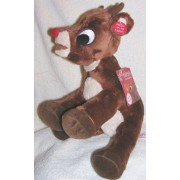 """Musical 12"""" Soft Plush Rudolph The Red Nosed Reindeer Doll Plays Music"""