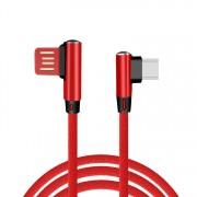 USB Type C kábel konektor s 90° dizajnom a dĺžkou 1 meter v pletenom prevedení