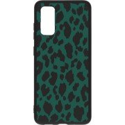 Design Backcover Color Samsung Galaxy S20 hoesje - Panter Groen
