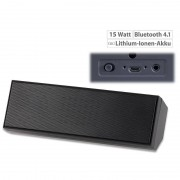 auvisio Portabler Stereo-Lautsprecher mit Bluetooth 4.1 und Akku, 10 Watt